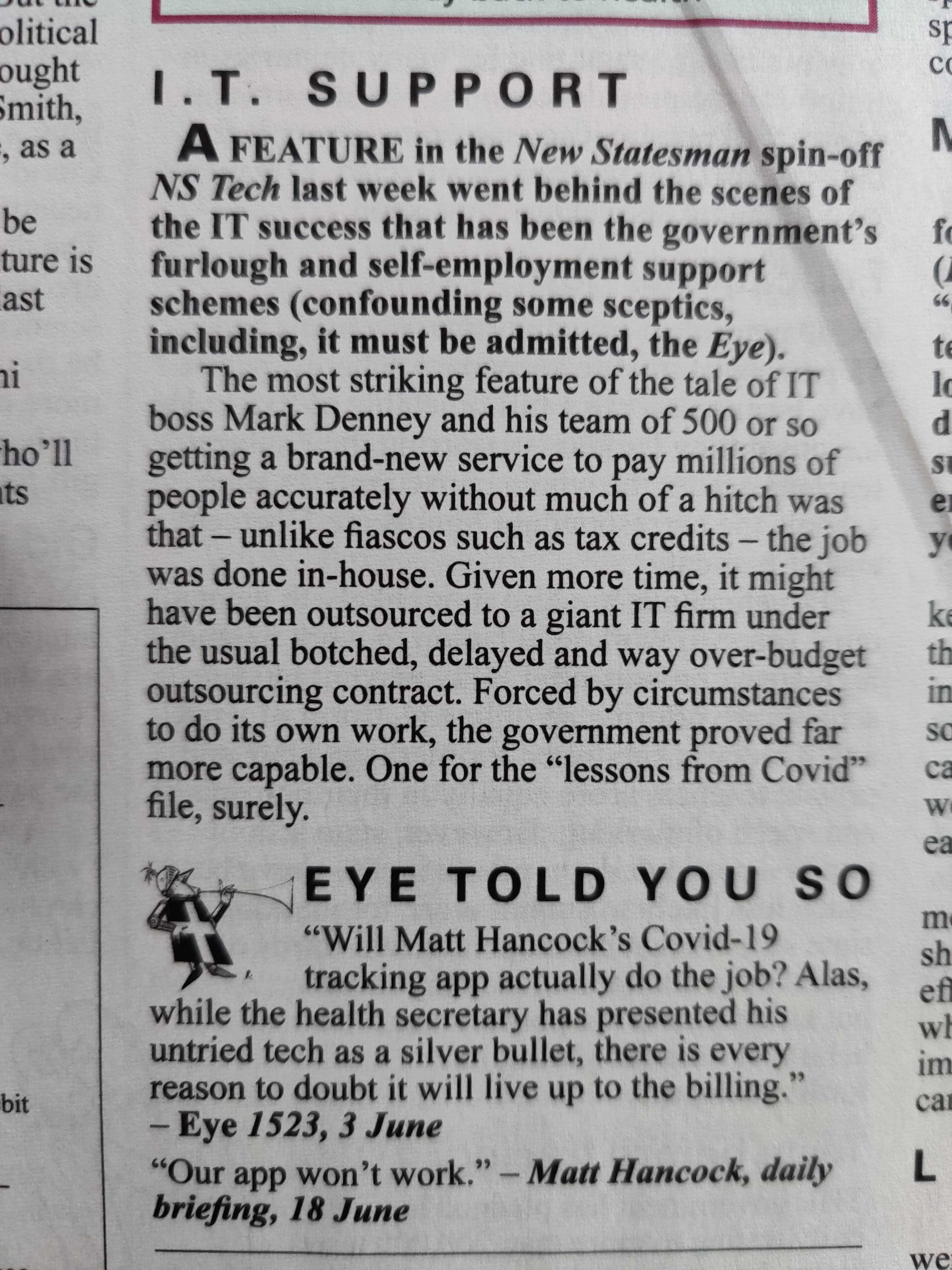 Private Eye Scepticism